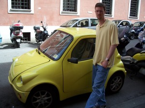 Smart cars in Rome and Venice were popular.