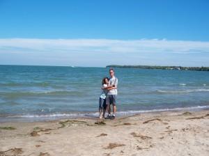 ki me & jason on beach