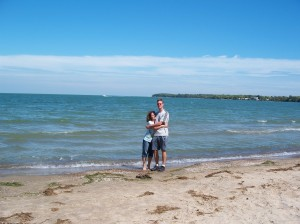 ki me & jason on beach