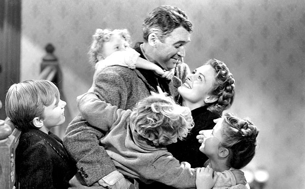 IT'S A WONDERFUL LIFE, Larry Simms, Jimmy Hawkins, James Stewart, Donna Reed, Karolyn Grimes, 1946